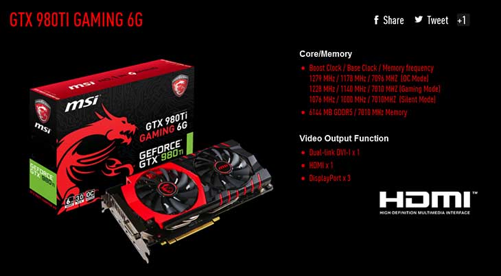 spec5 - MSI Gaming 6G 980TI: Silent But Deadly