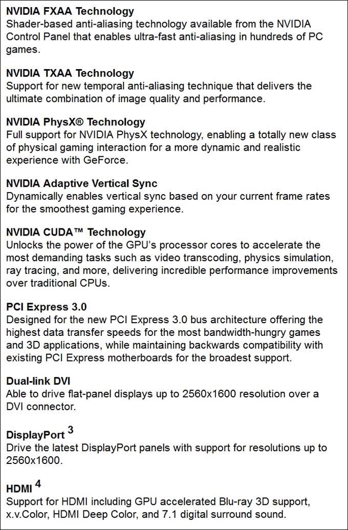 spec5 - PNY GeForce GTX 750Ti OC