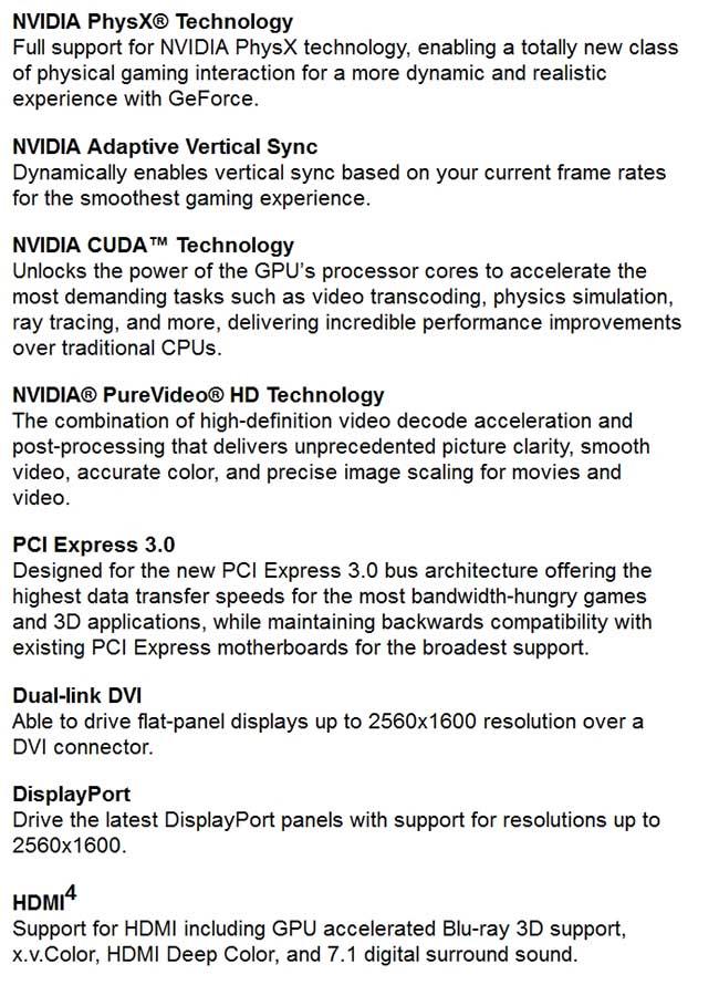 spec4 - PNY GeForce GTX 770 4GB XLR8 OC2