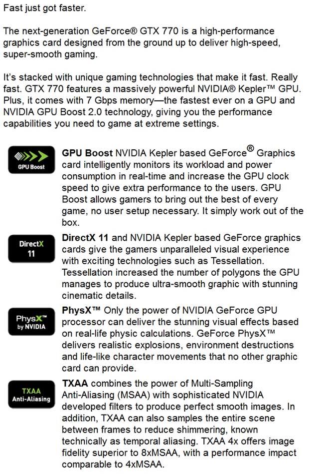 spec6 - PNY GeForce GTX 770 4GB XLR8 OC2