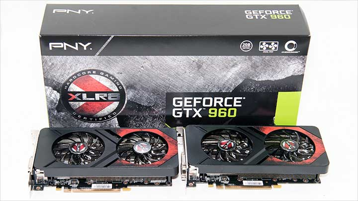 mfg - PNY GeForce GTX 960 XLR8 OC Gaming 2GB SLI