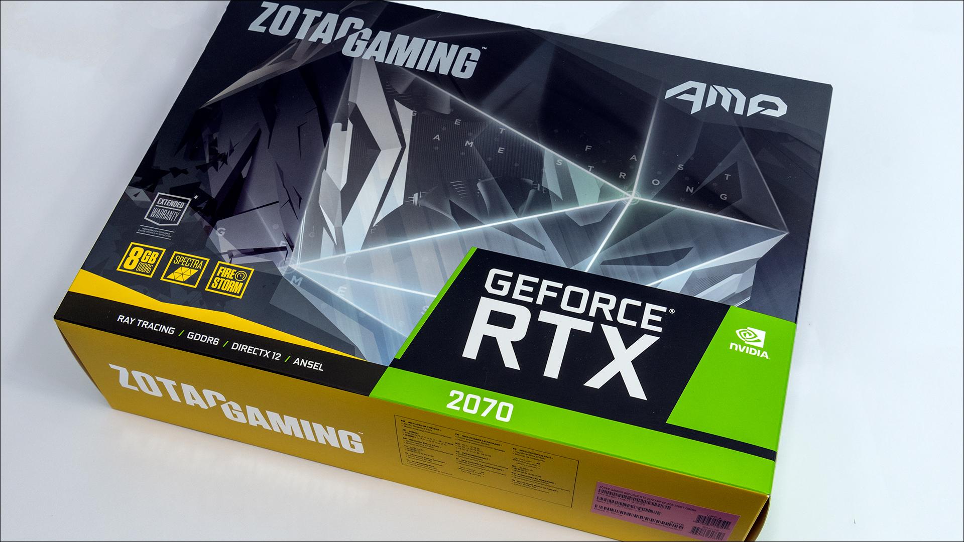 Zotac Gaming GeForce RTX 2070 AMP: Smaller design, but
