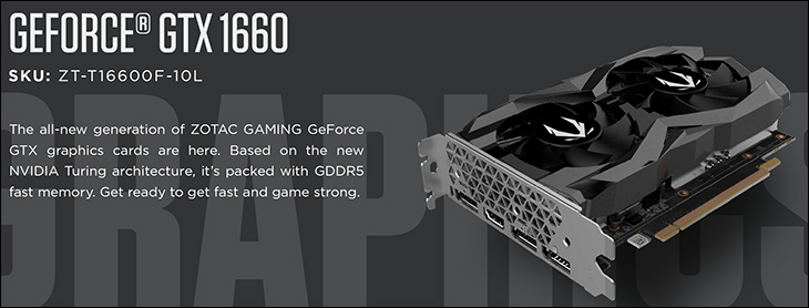 Zotac Gaming GTX 1660 spec1 - Zotac GAMING GeForce GTX 1660 Review
