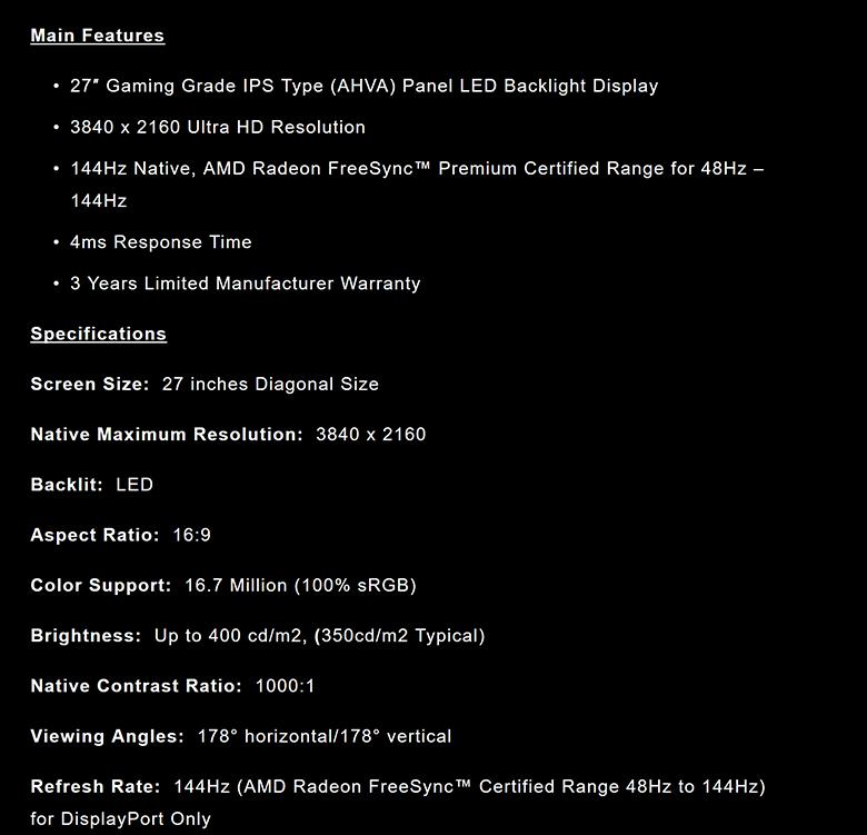 Nixeus EDG274K spec7 - Nixeus NX-EDG274K Review