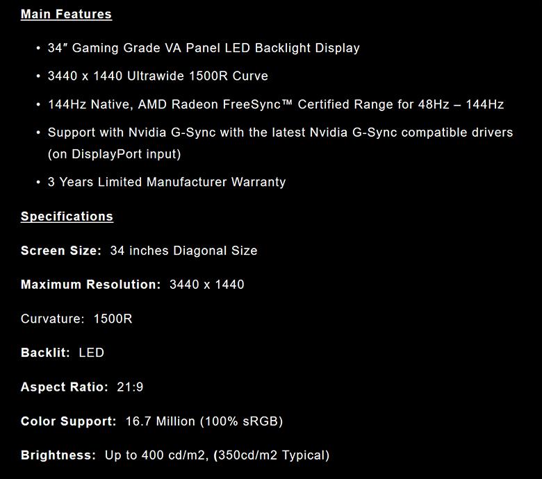 Nixeus NXEDG34S spec1 - Nixeus NX-EDG34S Review