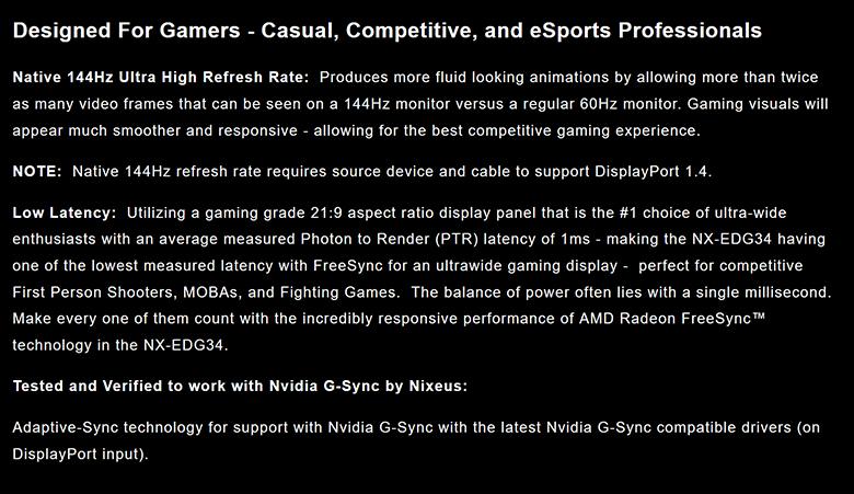 Nixeus NXEDG34S spec6 - Nixeus NX-EDG34S Review