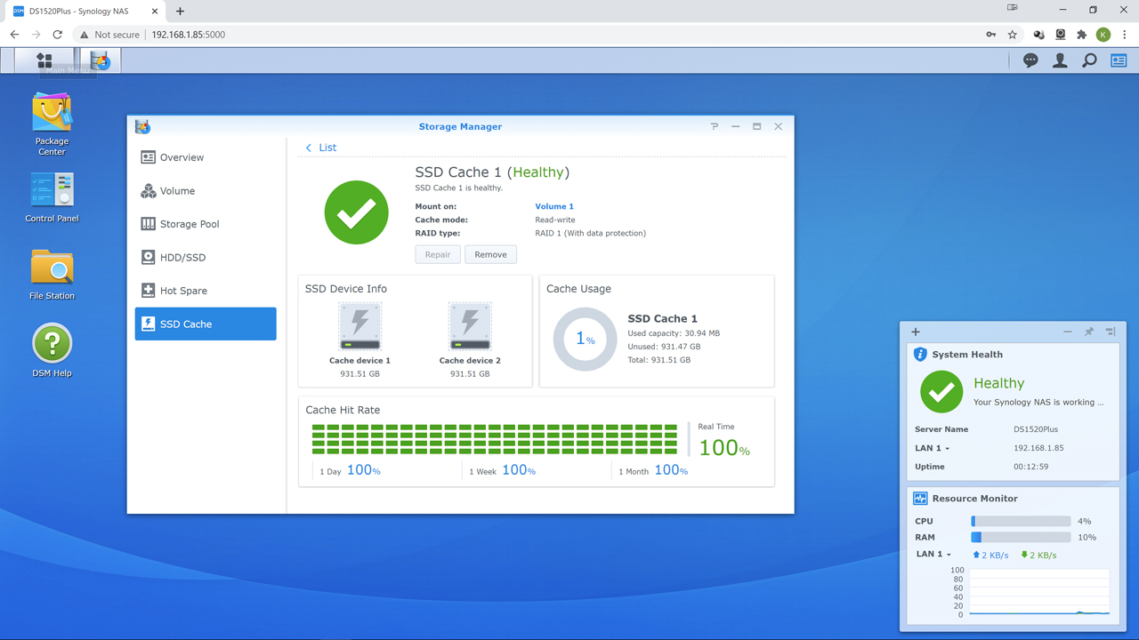 m2 5 - Synology DS1520+ Review
