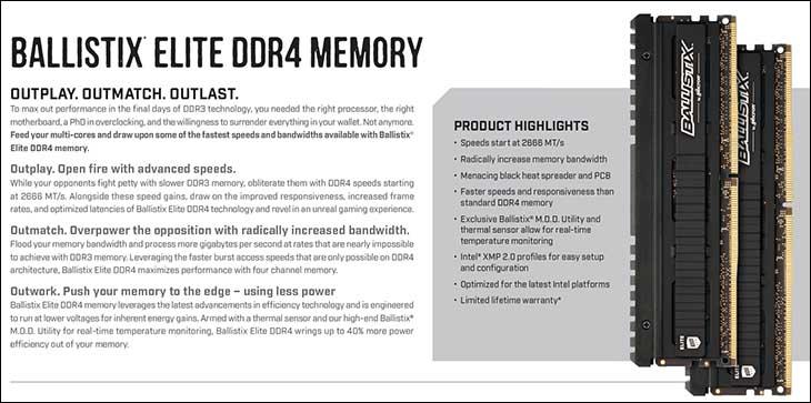 spec3 - Ballistix Elite 32GB DDR4-3466: Breaking the 2T Barrier