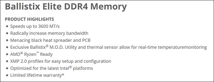 spec2 - Ballistix Elite DDR4-3600 Review