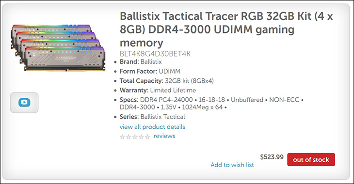 Ballistix Tactical  Tracer spec3 - Ballistix Tactical Tracer RGB: a new breed of LED RAM