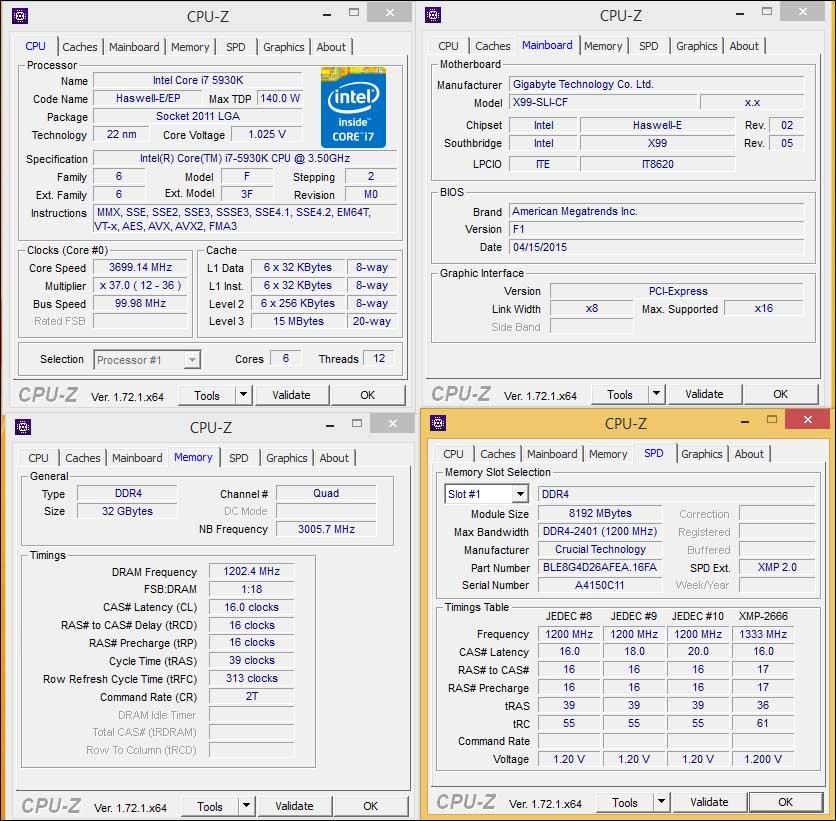 stock - Crucial Ballistix Elite DDR4-2666 32GB Kit