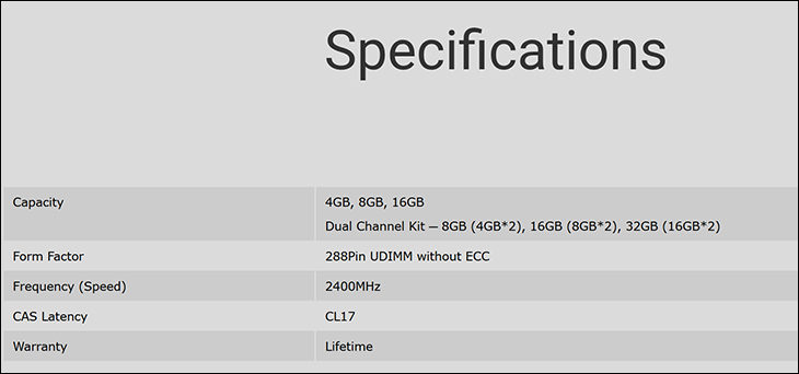 spec5 - Silicon Power DDR4-2400: Good choice for the adventurous buyer