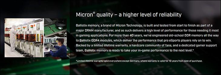 spec0 - Ballistix Sport LT DDR4-3200 Review