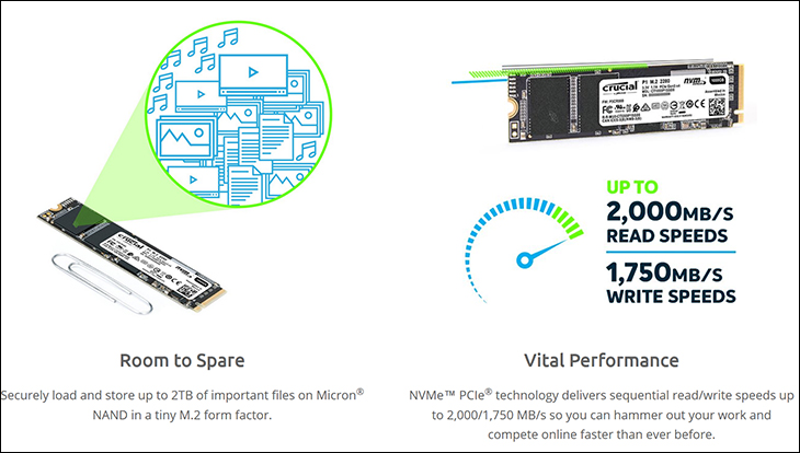 Crucial P1 1TB spec2 - Crucial P1 1TB Review: Value comes to the NVMe marketplace