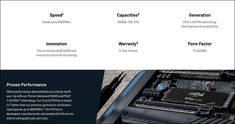 spec3 - Crucial P5 Plus 2TB Review