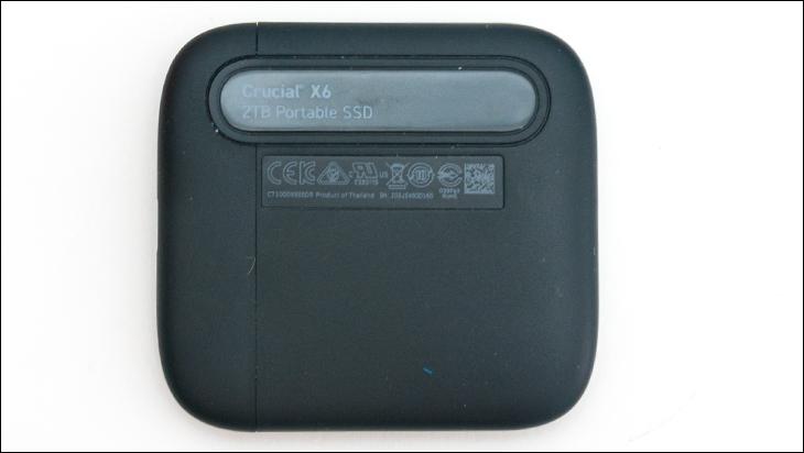 Crucial X6 2TB top - Crucial X6 2TB External SSD Review