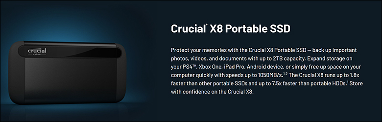 Crucial X8 2TB spec2 - Crucial X8 2TB External SSD Review