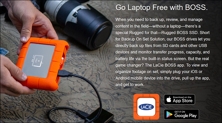 LaCie Rugged Boss SSD spec4 - LaCie Rugged BOSS SSD Review