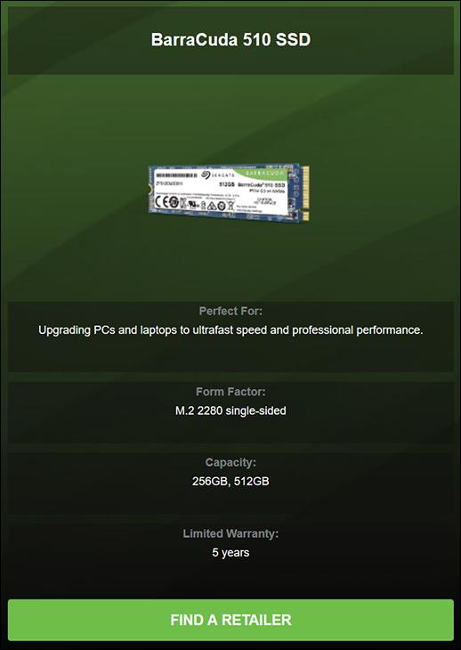 Seagate BarraCuda 510 spec1 - Seagate BarraCuda 510 512GB SSD Review