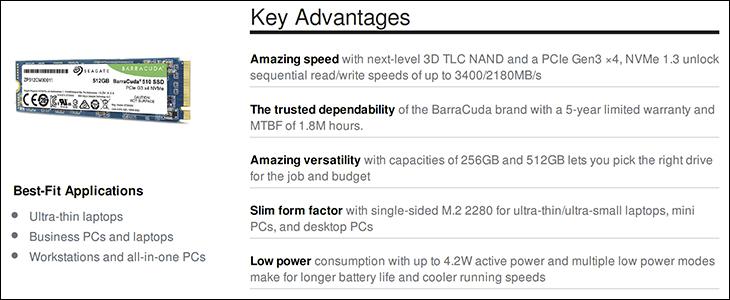 Seagate BarraCuda 510 spec5 - Seagate BarraCuda 510 512GB SSD Review