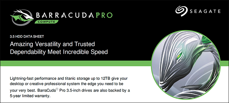 BarraCuda Pro 10TB spec1 - Seagate 10TB BarraCuda Pro: Redefining the term High Performance Hard Drive Review