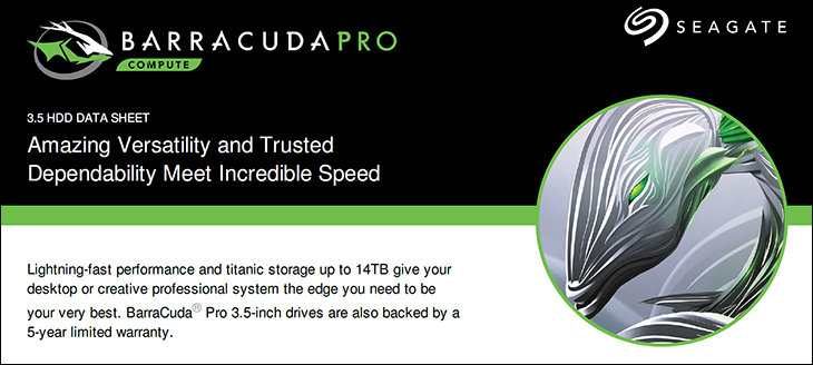 spec - Seagate 12TB BarraCuda Pro: Bigger, Faster, and Better in RAID
