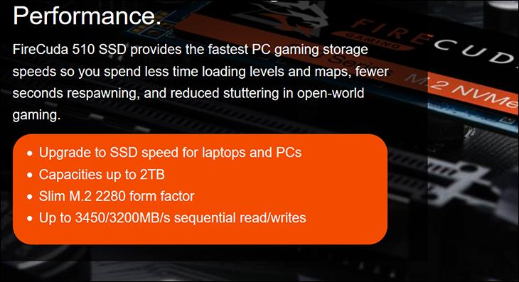 spec2 - Seagate FireCuda 510 1TB SSD Review