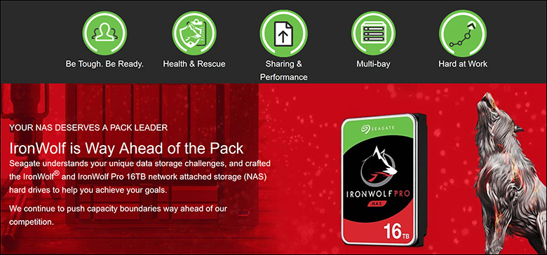 spec2 - Seagate IronWolf Pro 16TB Review