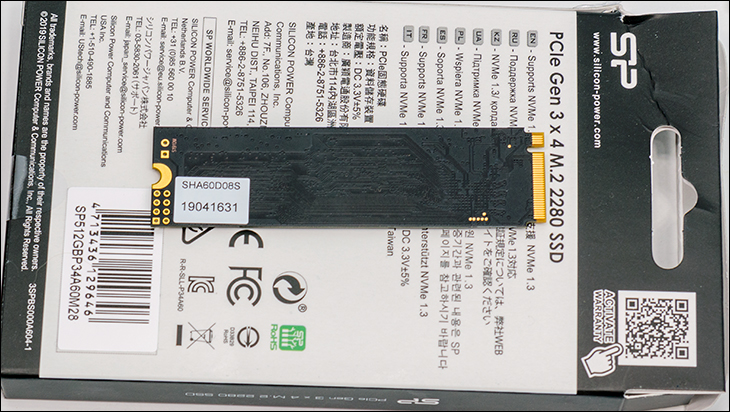 Silicon Power P34A60 back - Silicon Power P34A60GB M.2 Review