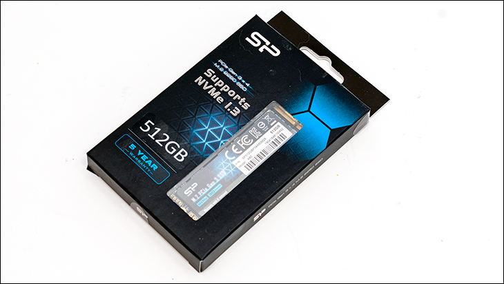 Silicon Power P34A60 box - Silicon Power P34A60GB M.2 Review