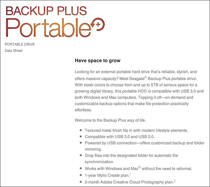 seagate backup plus portable 4TB spec2 - Seagate Backup Plus Portable 4TB Review