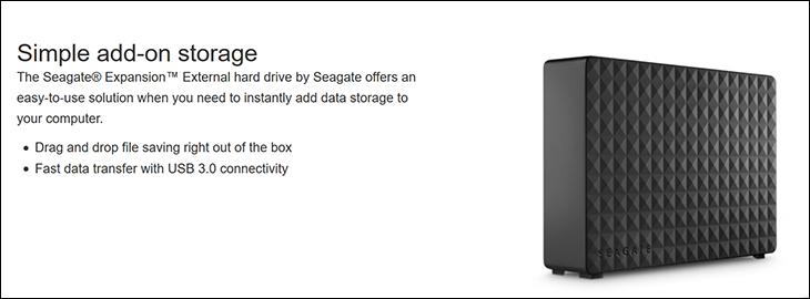 spec2 - Seagate Desktop Expansion 8TB Review