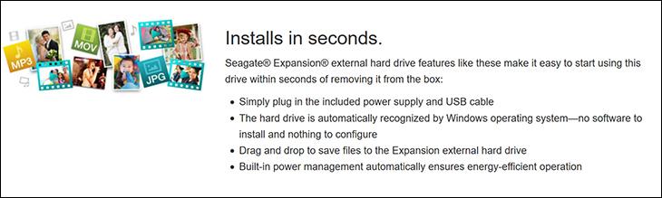spec3 - Seagate Desktop Expansion 8TB Review