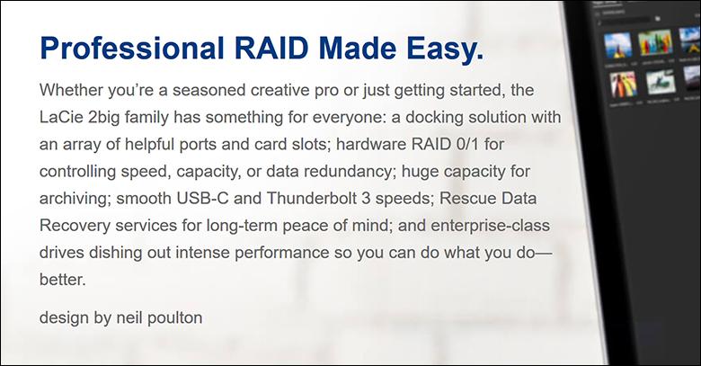 LaCie 2Big RAID 16TB spec1 - LaCie 2Big RAID Review