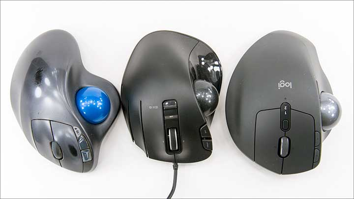 comp1 - Logitech MX Ergo & MX Ergo Plus vs M570 vs ELECOM: The Battle of the 'Balls