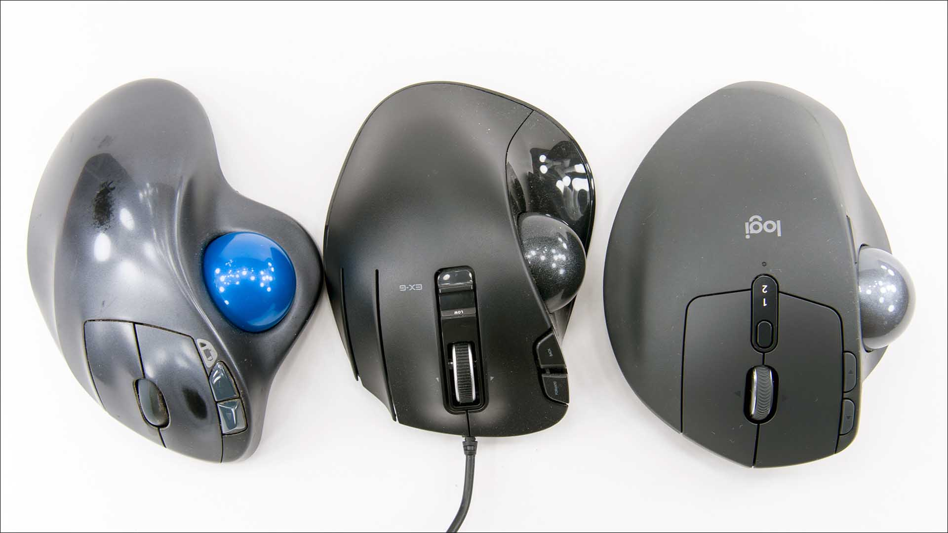 Logitech MX Ergo & MX Ergo Plus vs M570 vs ELECOM: The