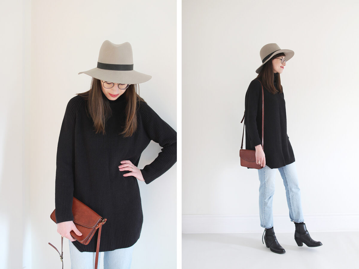 Style Bee - Tunic Sweater + Mom Jeans