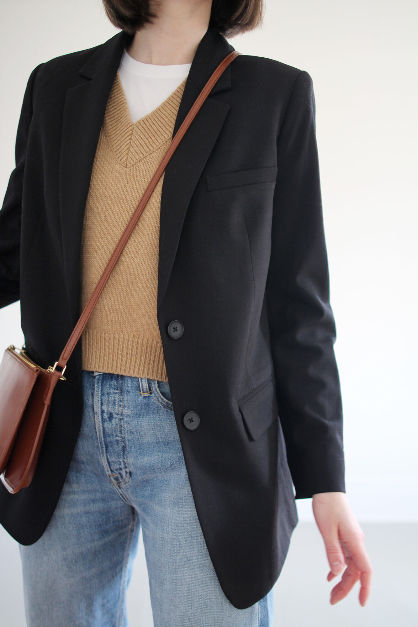 Style Bee - Sweater Vest and Blazer
