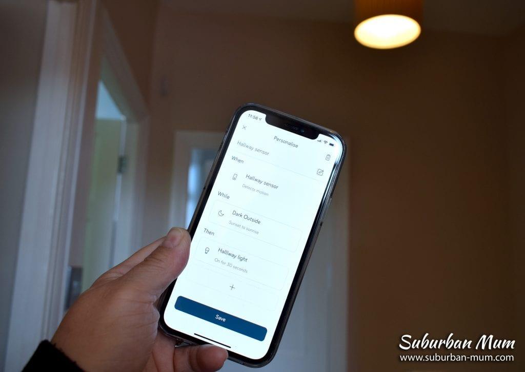 Hive Smart app - personalised controls