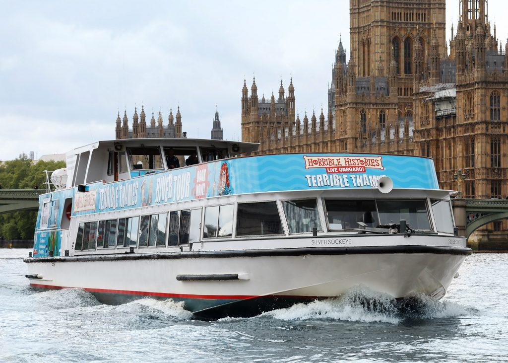 Horrible Histories Thames Tour along Westminster