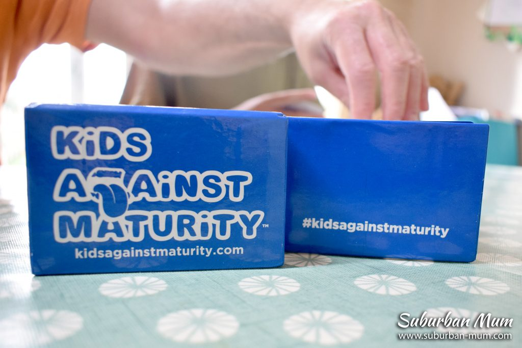 Kids Against Maturity card game