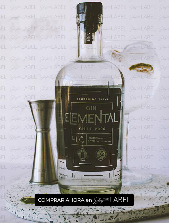 Botella de Gin Elemental