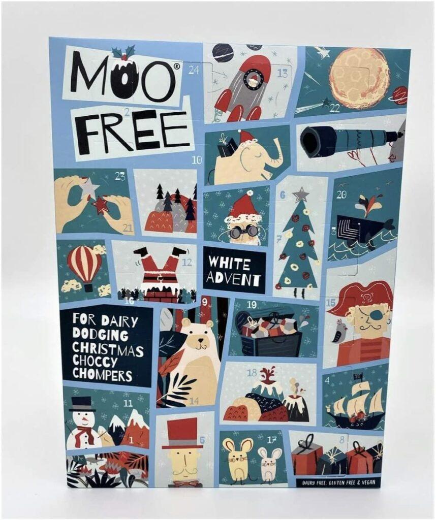 MooFree veganer Adventskalender mit weißer Schokolade