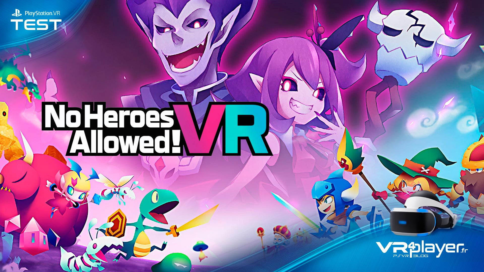 No Heroes Allowed! Test Review Vr4Player.fr