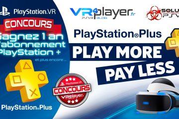 CONCOURS PS4, PS4 pro, PlayStation VR : Gagnez un an de PlayStation + et plus encore … !