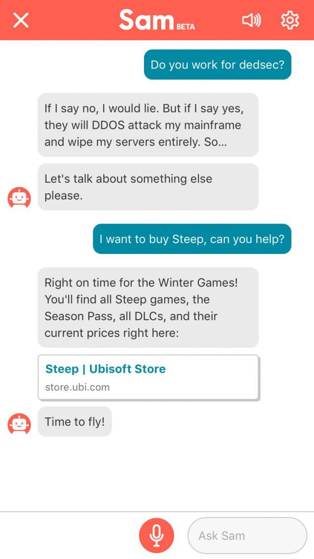SAM l'assistant player d'Ubisoft