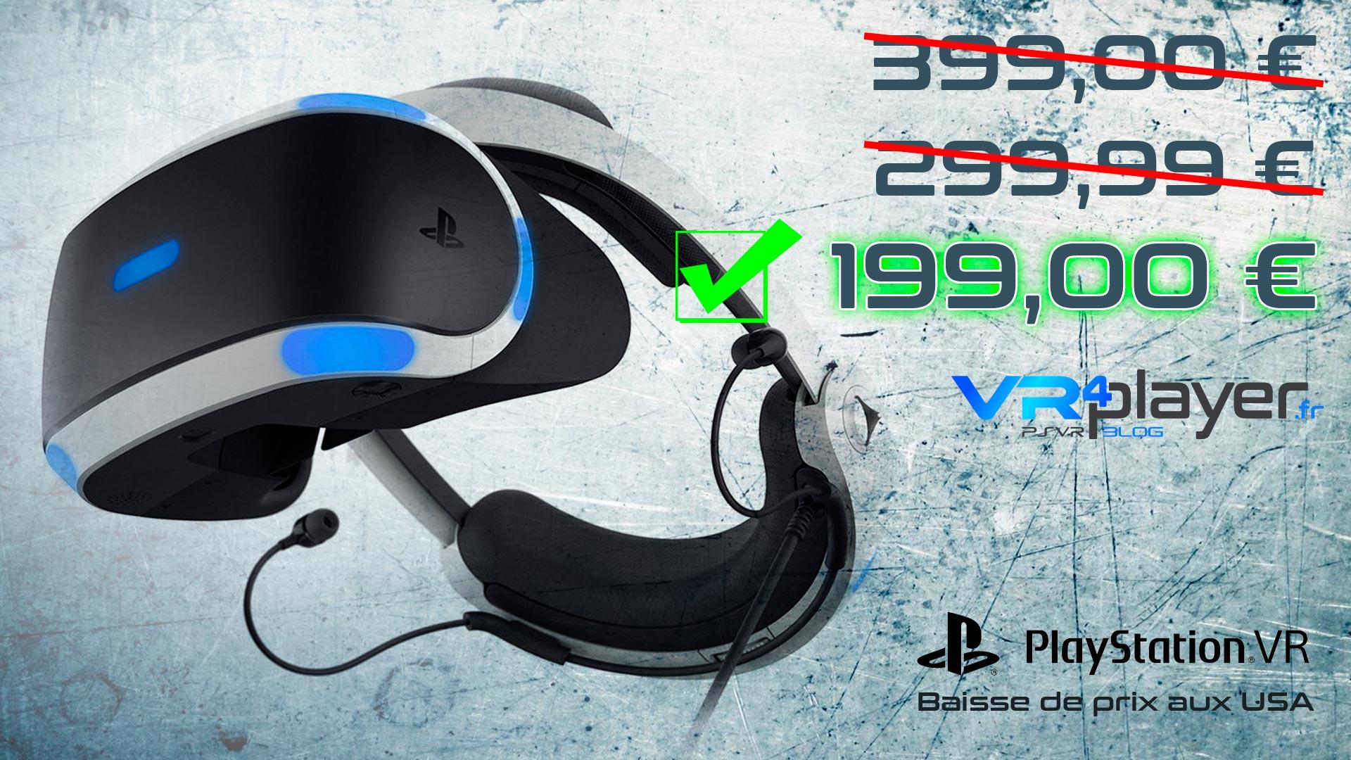 PSVR baisse de prix aux USA VR4player