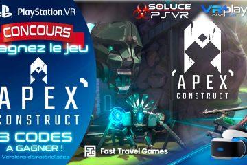 PlayStation VR : Concours, 3 Jeux PSVR APEX CONSTRUCT à Gagner