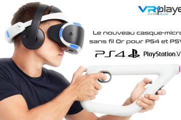 PS4, PlayStation VR : le nouveau casque-micro sans fil or bientôt disponible en Europe