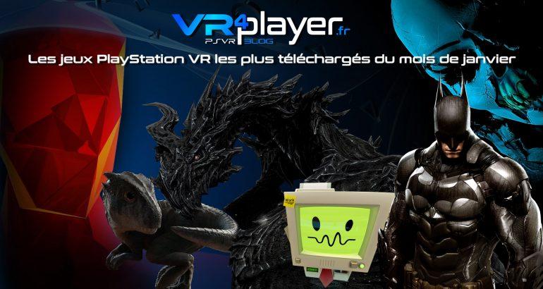 Les meilleures ventes de janvier 2018 sur le Store PSVR vrplayer.fr